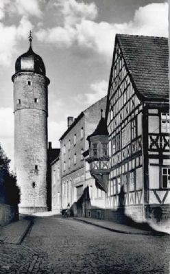 Prison Tower / Weißer Turm - Historical Postcard View image. Click for full size.