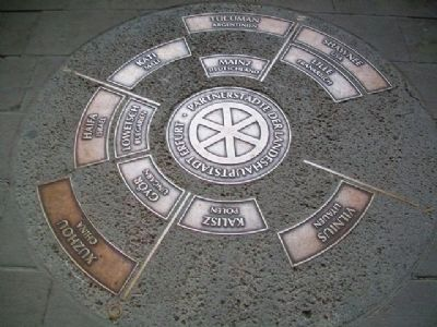 Erfurt Sister Cities Marker image. Click for full size.