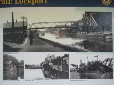 The Canalway Trail: Lockport Marker image. Click for full size.