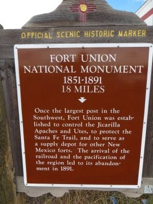 Fort Union National Monument Marker image. Click for full size.