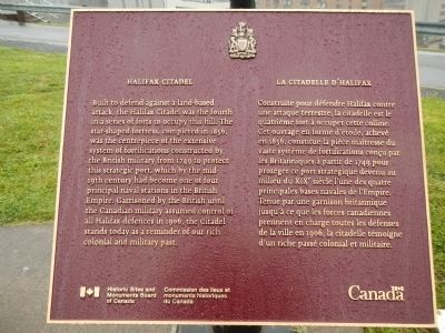 Halifax Citadel Marker image. Click for full size.