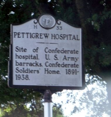Pettigrew Hospital Marker image. Click for full size.