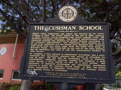 Cushman School Marker image. Click for full size.