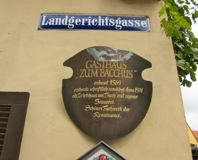 Gasthaus zum Bacchus Marker image. Click for full size.