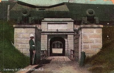 Entrance to the Citadel - Historic Postcard View image. Click for full size.