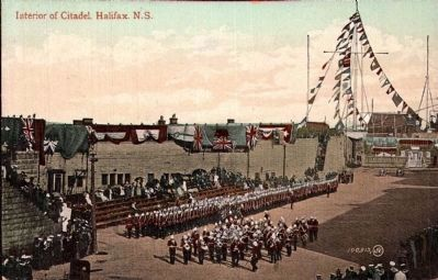 Halifax Citadel Parade Grounds with Parade image. Click for full size.