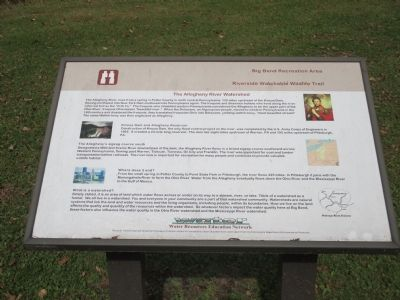 The Allegheny River Watershed Marker image. Click for full size.