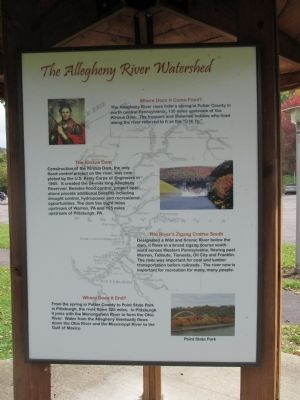 Twin Allegheny River Watershed Marker image. Click for full size.