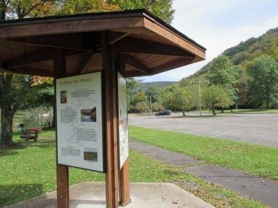 Twin Allegheny River Watershed Marker - Westward image. Click for full size.