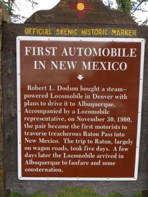 First Automobile in New Mexico Marker image. Click for full size.