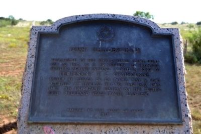 Fort Chadbourne Marker image. Click for full size.