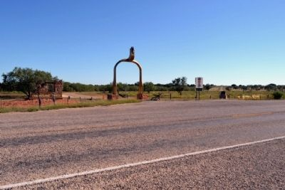 Entrance to Fort Chadbourne image. Click for full size.