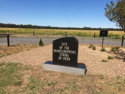 Site of the Sharecroppers Strike of 1939 Marker image. Click for full size.