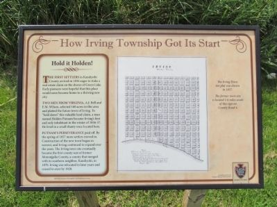 How Irving Township Got Its Start Marker image. Click for full size.