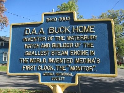 D.A.A. Buck Home Marker image. Click for full size.