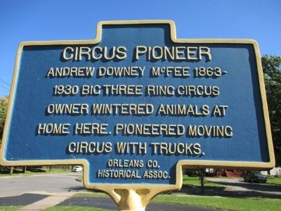 Circus Pioneer Marker image. Click for full size.