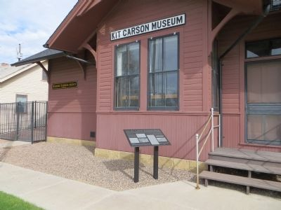 The Kit Carson Railroad Depot Marker image. Click for full size.