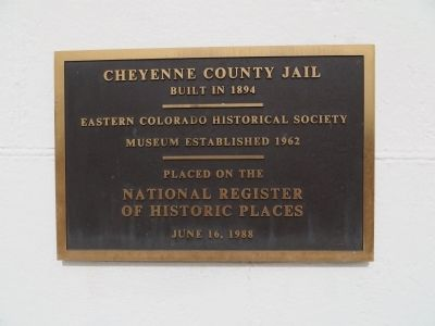 Cheyenne County Jail Marker image. Click for full size.