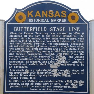 Butterfield Stage Line Marker image. Click for full size.