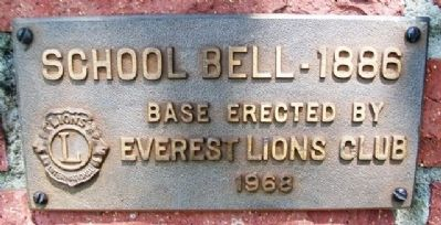 School Bell - 1886 Marker image. Click for full size.