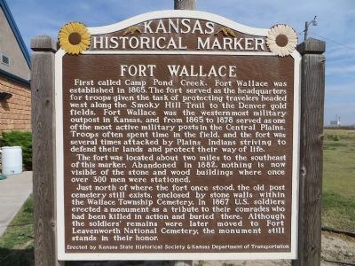 Fort Wallace Marker image. Click for full size.