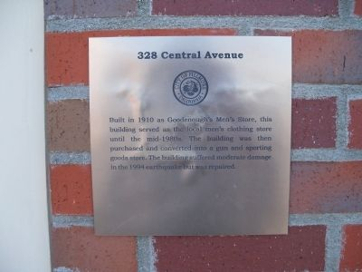 328 Central Avenue Marker image. Click for full size.