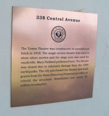 338 Central Avenue Marker image. Click for full size.