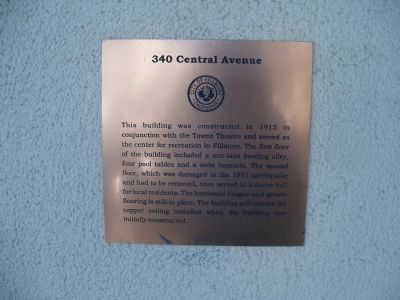 340 Central Avenue Marker image. Click for full size.