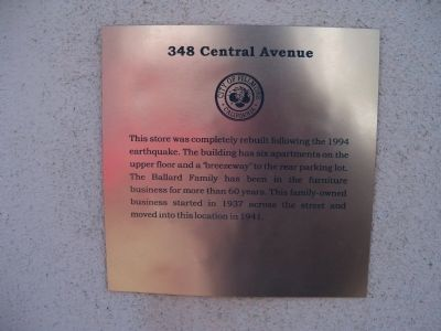 348 Central Avenue Marker image. Click for full size.