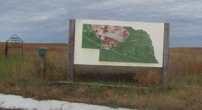 A roadside artist's rendition of the Nebraska Sandhills. image. Click for full size.