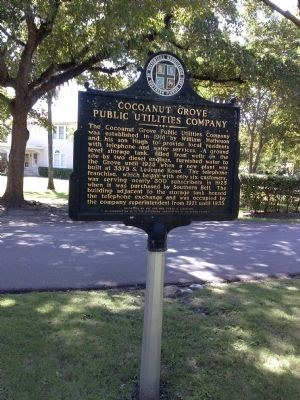 Cocoanut Grove Public Utilities Company Marker image, Touch for more information