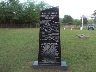 Skullyville Monument (rear) image. Click for full size.