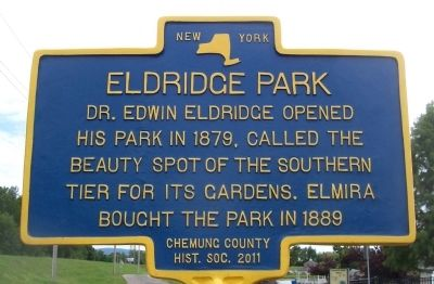 Eldridge Park Marker image. Click for full size.