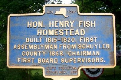 Hon. Henry Fish Homestead Marker image. Click for full size.