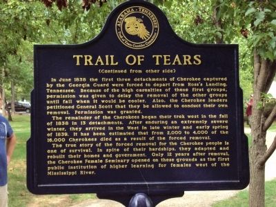 Trail of Tears Marker (Rear Panel) image. Click for full size.