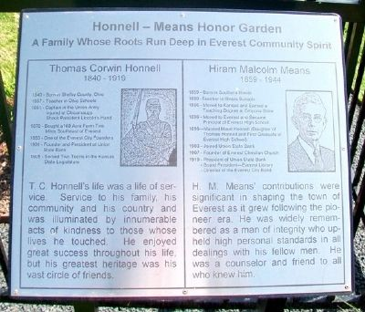 Honnell - Means Honor Garden Marker image. Click for full size.