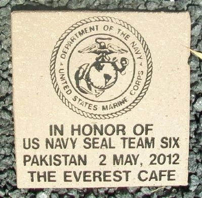 Everest Honor Garden Tile - SEAL Team Six image. Click for full size.