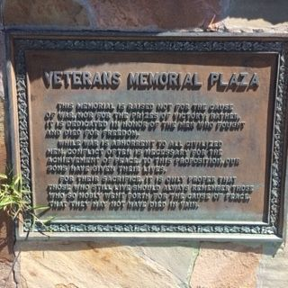 Veteran's Memorial Plaza Marker image. Click for full size.