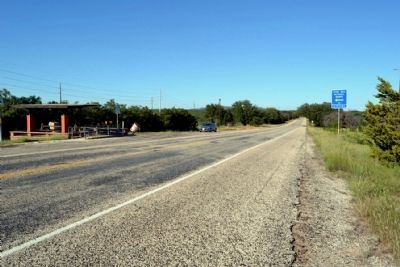 View to Northeast Along US 277 (marker's previous location) image. Click for full size.