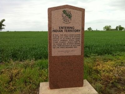 Entering Indian Territory Marker image. Click for full size.