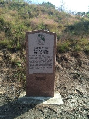 Battle of Backbone Mountain Marker image, Touch for more information