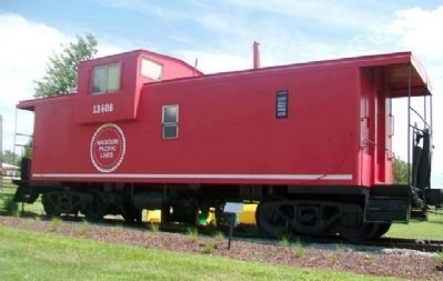 Missouri Pacific Railroad Caboose in Community Park image. Click for full size.
