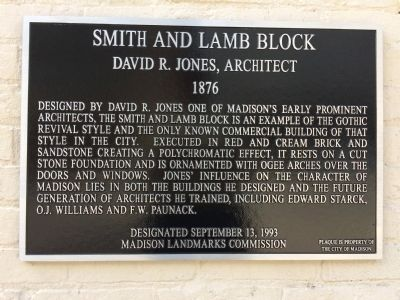Smith and Lamb Block Marker image. Click for full size.