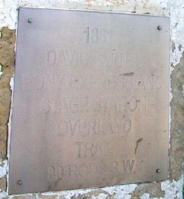David Smith's Pony Express and Stage Station Overland Trail Marker image. Click for full size.