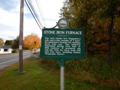 Stone Iron Furnace Marker image. Click for full size.