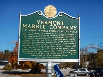 Vermont Marble Company Marker image. Click for full size.