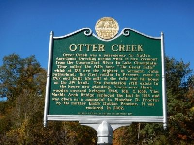 Otter Creek Marker image. Click for full size.