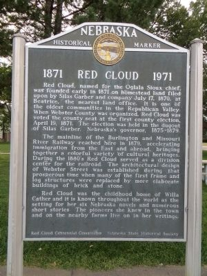 1871 Red Cloud 1971 Marker image. Click for full size.