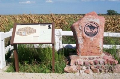 Saddle Up at Guittard and Pony Express Trail Markers image. Click for full size.