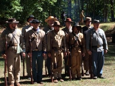 Reenactment of Confederate Soliders image. Click for full size.